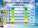 overall increase in airport satisfaction