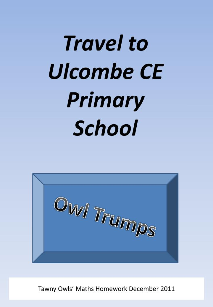 travel to ulcombe ce primary school n.