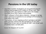 pensions in the uk today