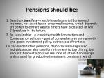 pensions should be