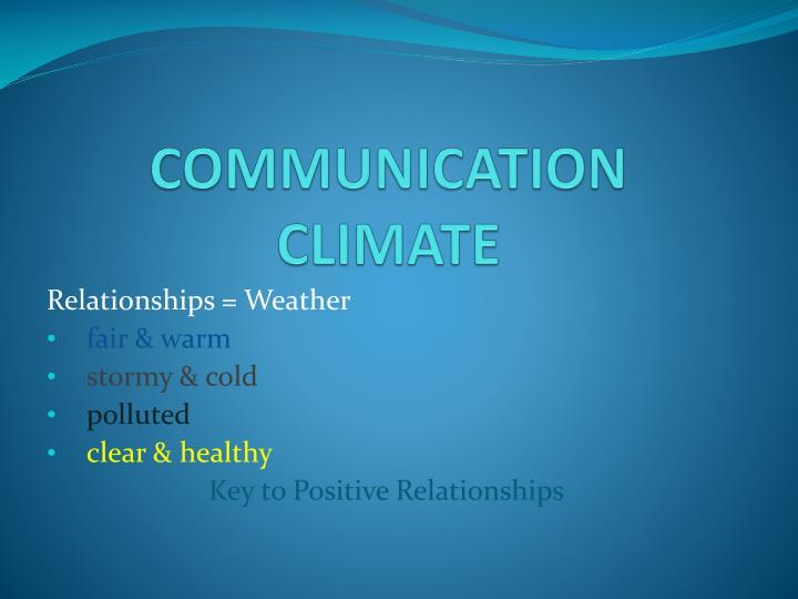communication climate n.