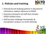 1 policies and training