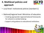 4 multilevel policies and approach