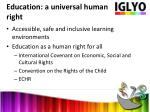 education a universal human right