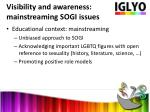 visibility and awareness mainstreaming sogi issues1