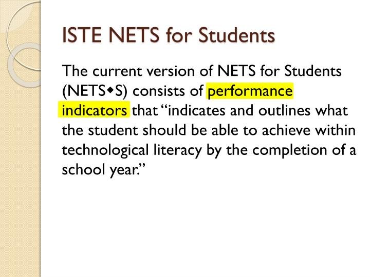 ISTE NETS for Students