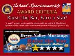 award criteria raise the bar earn a star
