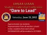 uhsaa uiaaa student leadership conference