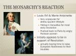 the monarchy s reaction