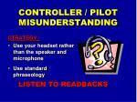 controller pilot misunderstanding