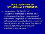 faa s definition of situational awareness