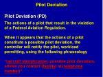 pilot deviation