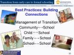 best practices building connections