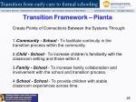 transition framework pianta1
