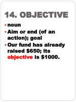 14 objective