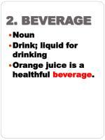2 beverage