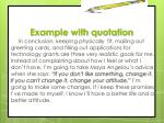 example with quotation