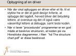 opbygning af en driver
