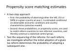 propensity score matching estimates