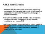 policy requirements3
