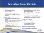 innovation center portfolio