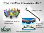 what can must communities do