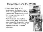 temperance and the wctu