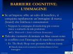 barriere cognitive l immagine