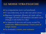 le mosse strategiche