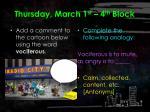 thursday march 1 st 4 th block