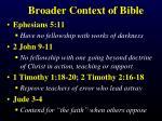 broader context of bible
