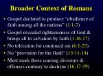 broader context of romans