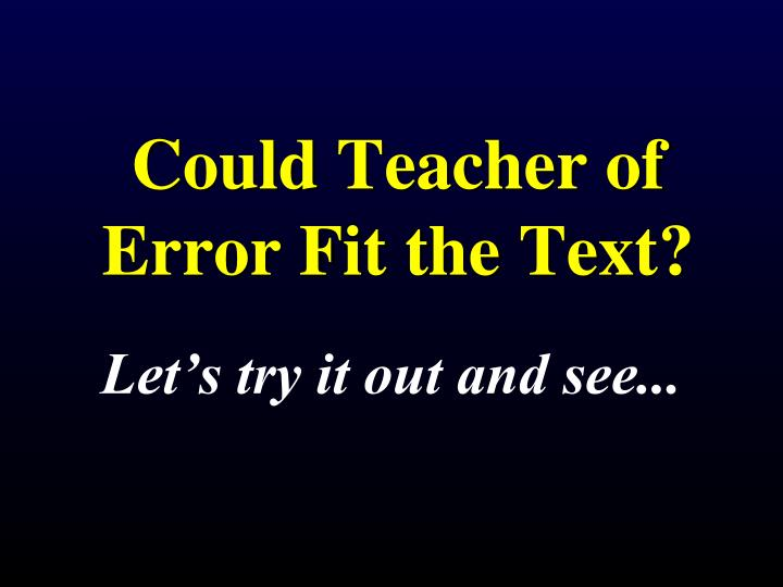 Could Teacher