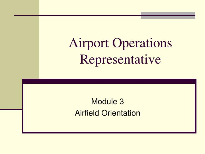 airport operations representative n.