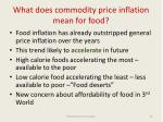 what does commodity price inflation mean for food