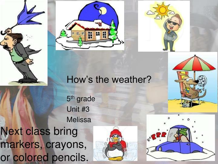 how s the weather n.