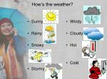 how s the weather1