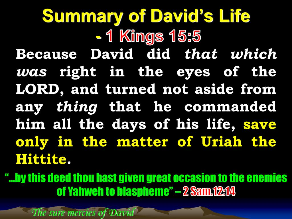 PPT - The sure mercies of David PowerPoint Presentation - ID:2112080