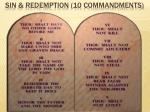 sin redemption 10 commandments