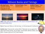 nitnem bania and timings
