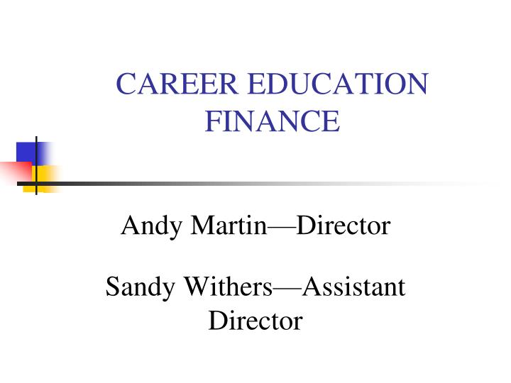 career education finance n.