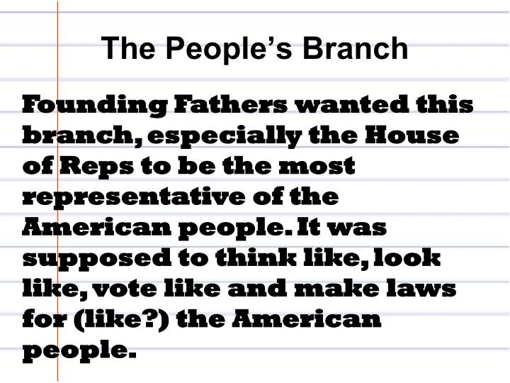 The People's Branch
