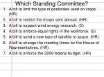 which standing committee