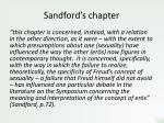 sandford s chapter