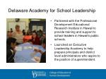delaware academy for school leadership
