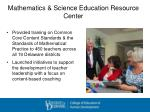 mathematics science education resource center