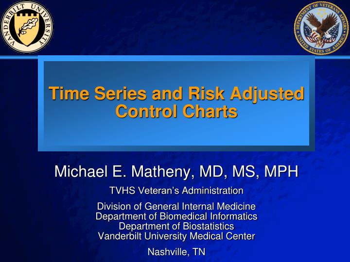 time series and risk adjusted control charts n.