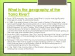 what is the geography of the yarra river