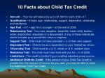 10 facts about child tax credit