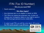 itin tax id number